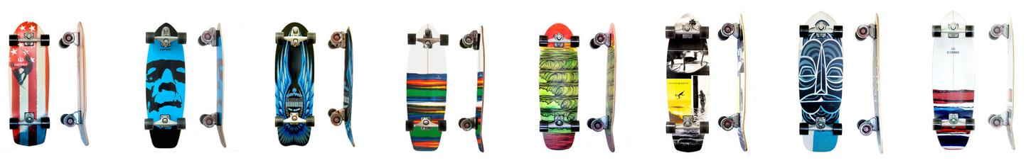 Carver Skateboards Auswahl Vergleich